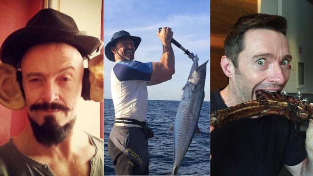 L'acteur du dimanche : imitation, pêche, gros délire... Hugh Jackman (X-Men, 6ter) s'éclate sur Instagram (29 PHOTOS)