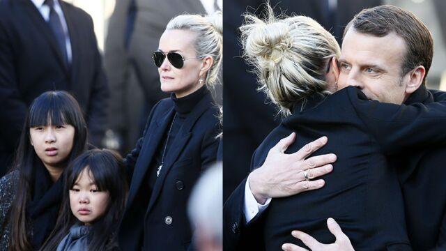 Hommage à Johnny Hallyday : Jade et Joy bouleversées, Emmanuel Macron réconforte Læticia Hallyday... (PHOTOS)