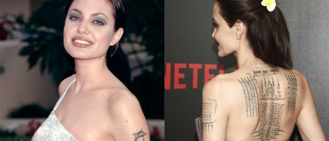 angelina jolie : l'étonnante évolution de ses tatouages (20 photos)