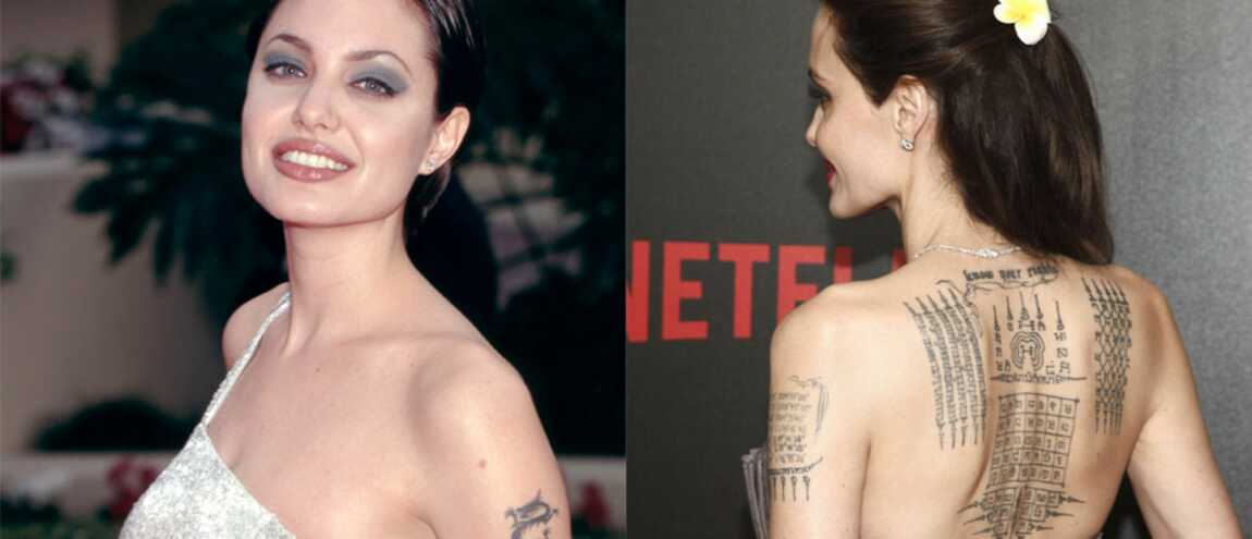 Angelina Jolie L Etonnante Evolution De Ses Tatouages Photos