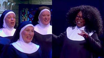 """Sister Act : 25 ans après Whoopi Goldberg retrouve ses bonnes soeurs et rejoue """"I will follow him"""" (VIDEOS)"""