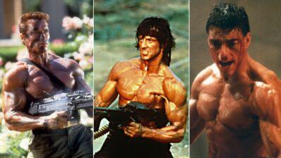 Sylvester Stallone, Arnold Schwarzenegger… Ces gros bras des années 1980 qui faisaient très mâle ! (28 PHOTOS)