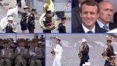 Défilé du 14-Juillet : la fanfare joue du Daft Punk, Emmanuel Macron et le public ravis (VIDÉO)
