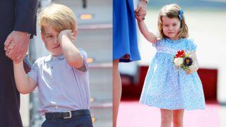 Trop durs les voyages officiels pour Baby George et Charlotte, une fois encore adorables !