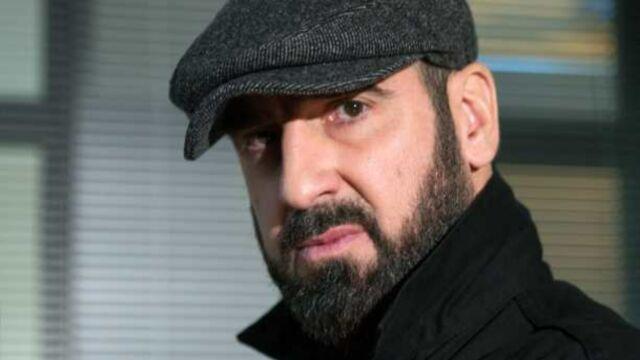 Eric Cantona en tournage pour France 2