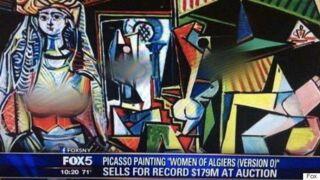 Picasso : Fox 5 floute les seins peints sur le tableau le plus cher au monde