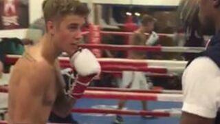 Vine : Justin Bieber prend des cours de boxe avec le champion Floyd Mayweather