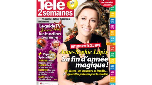 À la Une de Télé 2 semaines : Anne-Sophie Lapix, sa fin d'année magique !
