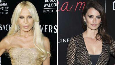 Penelope Cruz métamorphosée dans le rôle de Donatella Versace