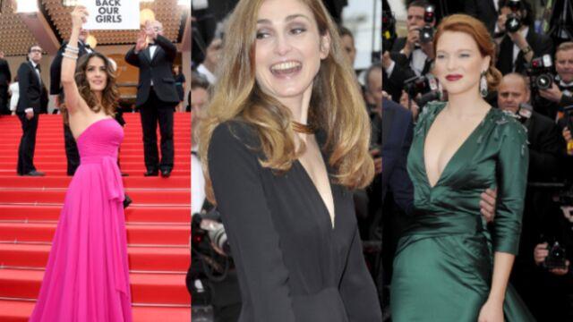 CANNES 2014 – Salma Hayek et Julie Gayet, engagées, Léa Seydoux, sexy et décolletée : une montée des marches au sommet (PHOTOS)