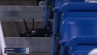 US Open : Un drone se crashe dans les tribunes (VIDEO)