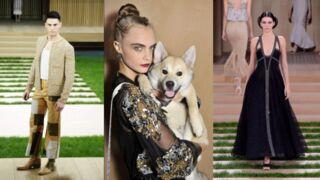 Fashion Week : Kendall Jenner et Baptiste Giabiconi défilent pour Chanel, le chien de Cara Delevingne fait le buzz (PHOTOS)