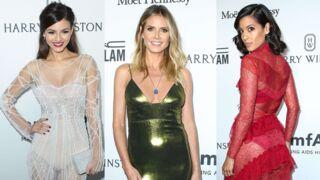 Heidi Klum, Charlize Theron... Transparences et décolletés au Gala de l'amfAR de Los Angeles (17 PHOTOS)