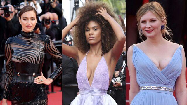 Cannes 2017 : Kirsten Dunst émue, Tina Kunakey et son décolleté... Le tapis rouge du film Les Proies (PHOTOS)