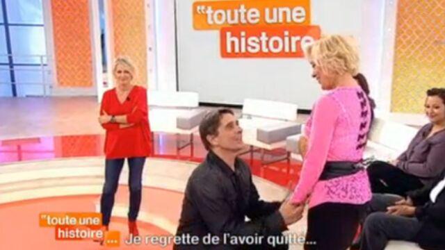 Un invité de Toute une histoire fait sa demande de mariage sur le plateau (VIDEO)