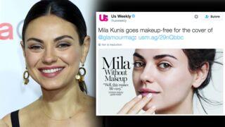 L'actrice Mila Kunis, sublime et sans maquillage en Une du Glamour US