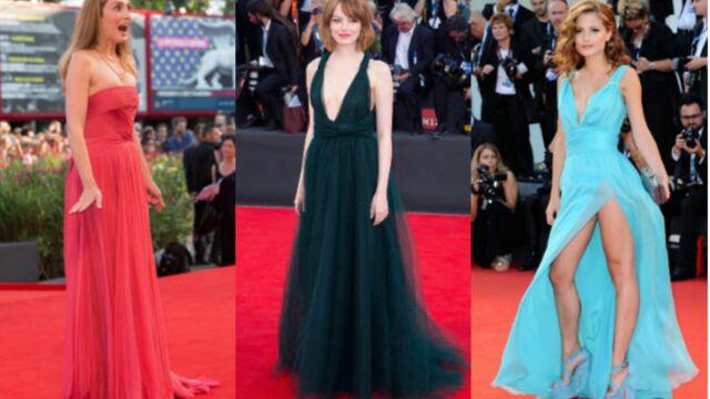 Julie Gayet, Emma Stone... A la Mostra de Venise, les filles sortent couvertes ! (PHOTOS)
