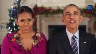 Michelle et Barack Obama en mode bêtisier pour leur dernier message de Noël (VIDÉO)