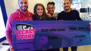 Secret Story 9 : Emilie, la gagnante reçoit enfin son chèque de 100.000 euros (VIDEO)