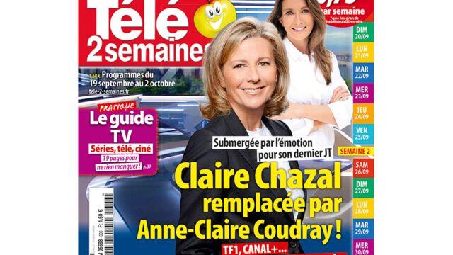 A la Une de Télé 2 semaines : Claire Chazal remplacée par Anne-Claire Coudray