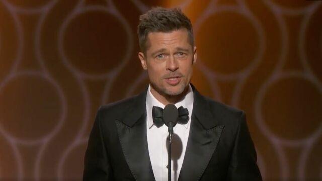 Repentir, erreurs, amour... Brad Pitt se confie sur la scène des Golden Globes