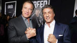 Oscars 2016 : Arnold Schwarzenegger console son pote Sylvester Stallone après sa défaite (VIDEO)