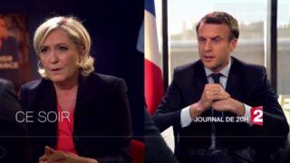 Emmanuel Macron et Marine Le Pen en tête-à-tête avec Laurent Delahousse ce dimanche sur France 2