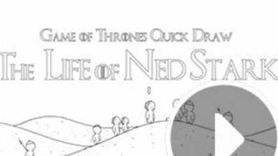 Game of Thrones : Vie et mort de Ned Stark en 60 secondes (et en dessin animé) (VIDEO)