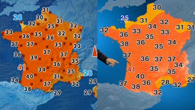 Canicule : pourquoi TF1 et France 2 ne donnent pas les mêmes températures dans leur bulletin météo ?