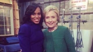 Hillary Clinton sur le tournage de Scandal (4 PHOTOS)
