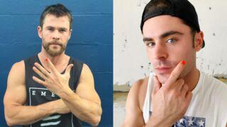 Chris Hemsworth, Zac Efron... Mais pourquoi se mettent-ils du vernis à ongle ? (PHOTOS)