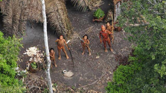 La BBC filme pour la première fois une tribu amazonienne isolée