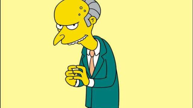 Monsieur Burns (Les Simpson) vote Mitt Romney
