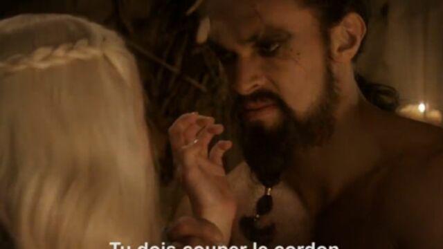 Quand le téléphone interrompt les scènes crues de Game of Thrones (VIDEO)