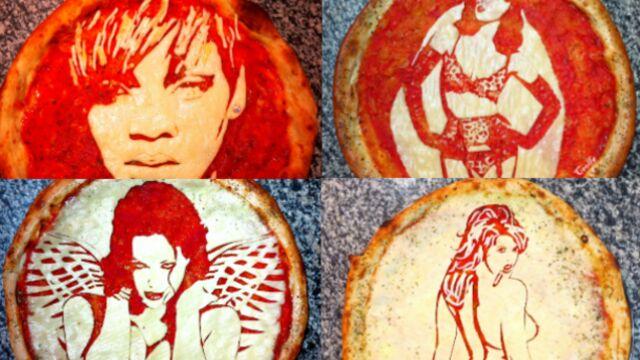 Rihanna, Beyoncé, Monica Bellucci... des stars à croquer en pizza ! (PHOTOS)