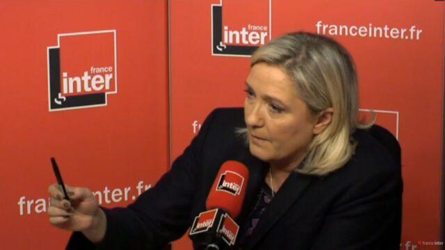 Face-à-face tendu entre Marine Le Pen et Patrick Cohen sur France Inter