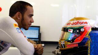 Lewis Hamilton dévoile son nouveau casque (très) flashy sur Instagram