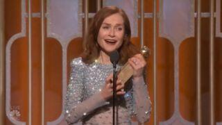 Découvrez l'intense discours d'Isabelle Huppert aux Golden Globes (VIDEO)
