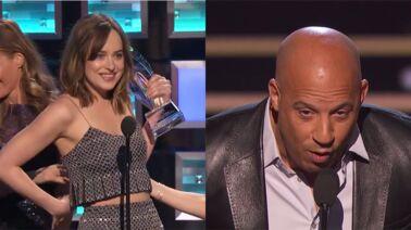 7ea001d2e32691 Cinéma. People s Choice Awards   Dakota Johnson craque sa robe sur scène, l hommage  vibrant de Vin Diesel à Paul Walker ...