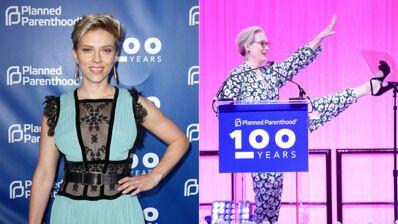 Scarlett Johansson radieuse, Meryl Streep en mode délire... Les stars se mobilisent pour le gala du planning familial (16 PHOTOS)