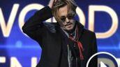 Johnny Depp ivre sur la scène des Hollywood Film Awards