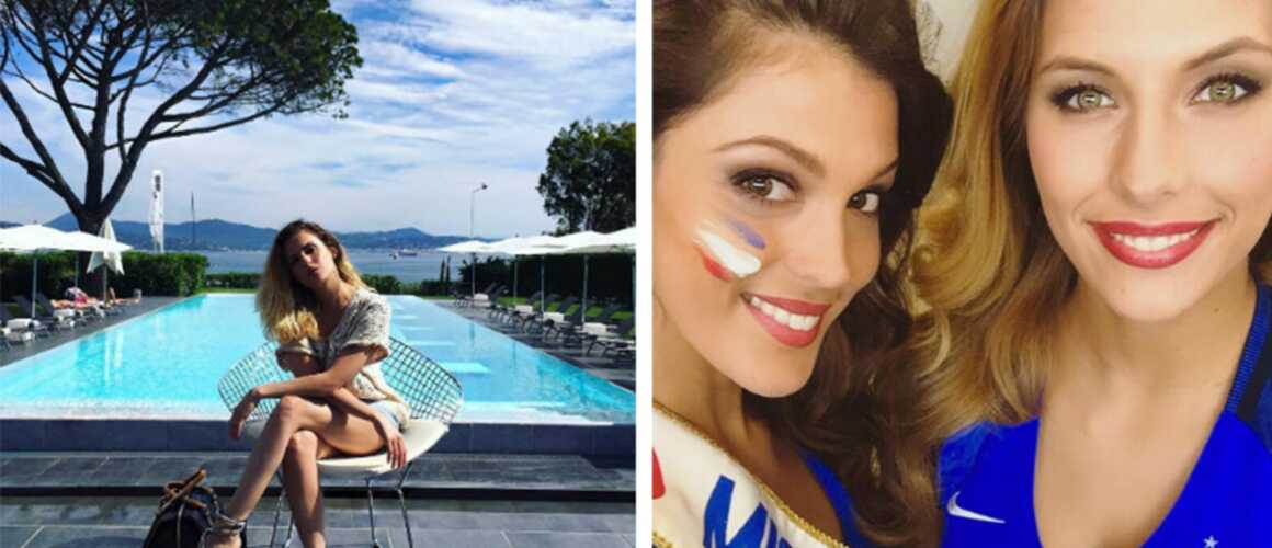Instagram clara morgane sublime au bord de la piscine for Nue a la piscine