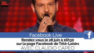 Facebook Live : posez vos questions à Claudio Capeo (The Voice) en direct