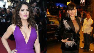Cannes 2015 : Sophie Marceau laisse échapper un sein, décolleté ravageur pour Salma Hayek (PHOTOS)
