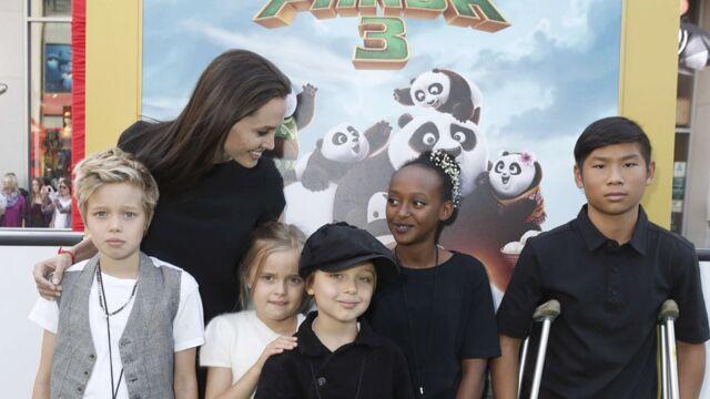 Angelina Jolie, heureuse de présenter sa petite tribu à l'avant-première de Kung Fu Panda 3 (10 PHOTOS)