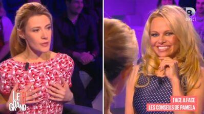 Le Grand 8 : Pamela Anderson complimente une chroniqueuse... sur ses seins ! (VIDEO)