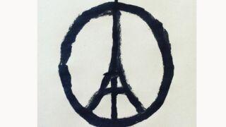 """Attentats à Paris : """"Peace for Paris"""", le dessin symbole de la solidarité"""