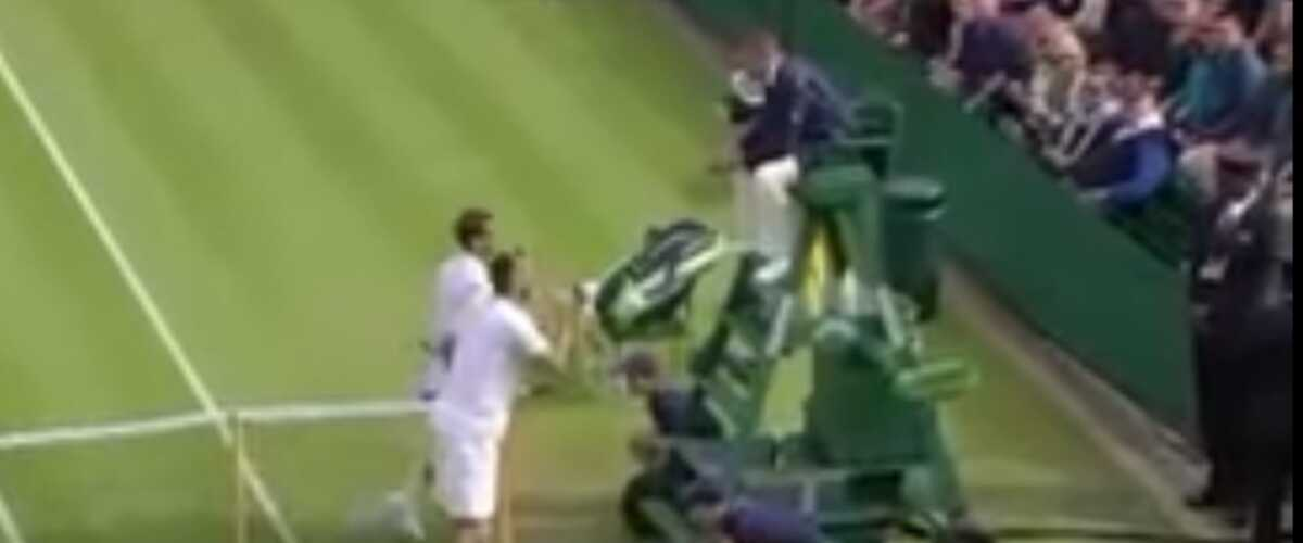 Wimbledon   le Serbe Viktor Troicki insulte l arbitre pendant son match  (VIDEO) 6f6f5c7c9747f