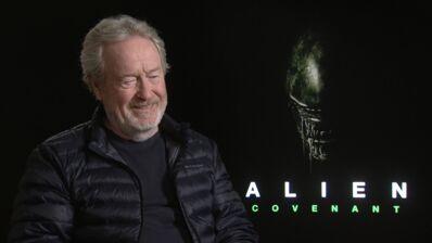 Alien Covenant (Canal +) : comment le réalisateur Ridley Scott a-t-il ressuscité sa créature mythique ? (INTERVIEW VIDEO)