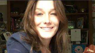 Sous la couette, Carla Bruni se dévoile sans maquillage (VIDEO)